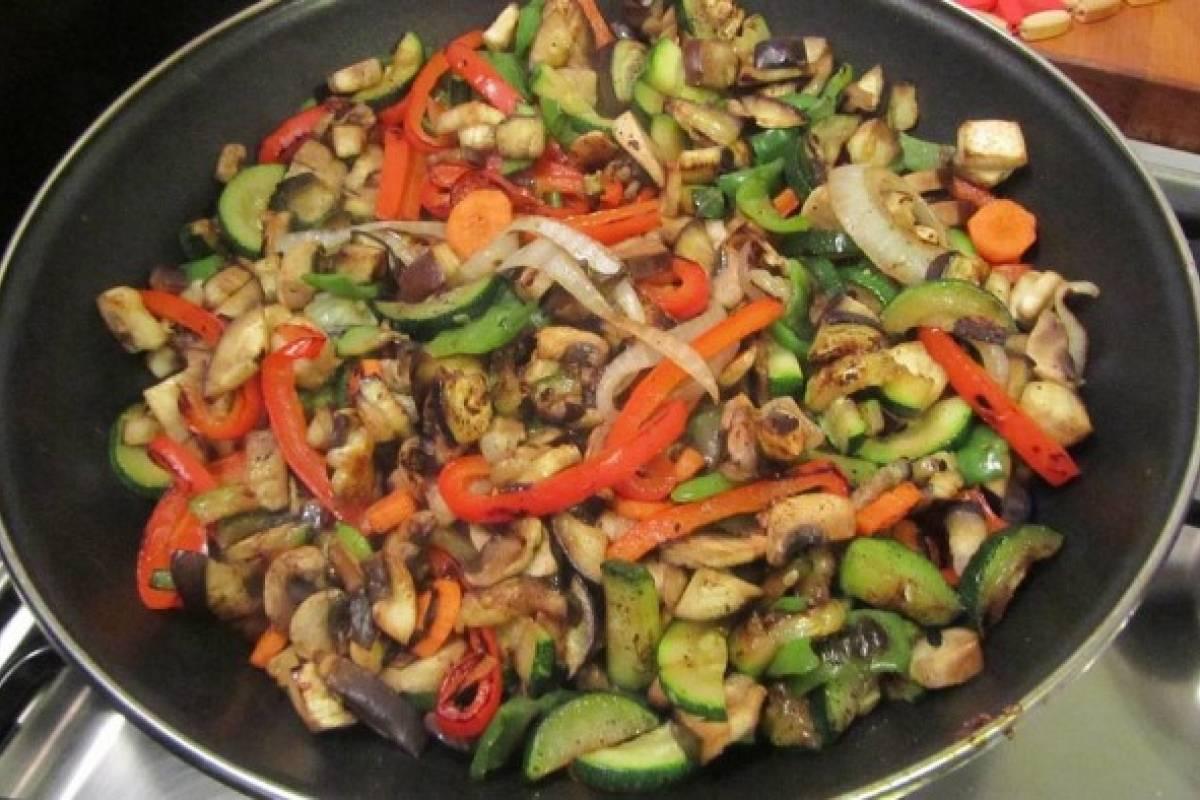 Fibra en tu comida: Hoy hortalizas a lasartén.